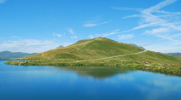 Mountains, Lake, Austria, Pinzgau, Thurn Paß, Nature