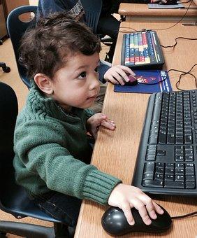 Little Boy, Little Techie, Boy With Computer, Tech