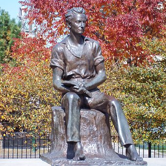 Chicago, Illinois, Young Lincoln, Statue, Monument