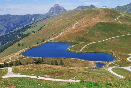Reservoir, Thurn Paß, Pinzgau, Mountains, Nature