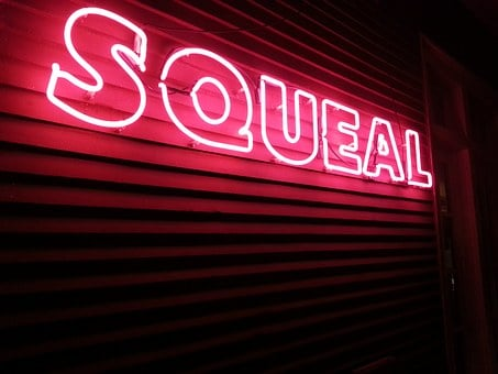 Sign, Neon, Squeal, Pink, Red