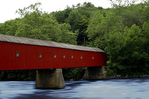 Connecticut, Covered Bridge, Bridge, Covered, New