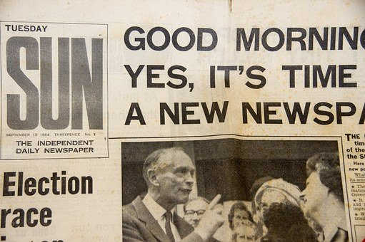 Newspaper, Front, Page, First Edition, Headline, Print