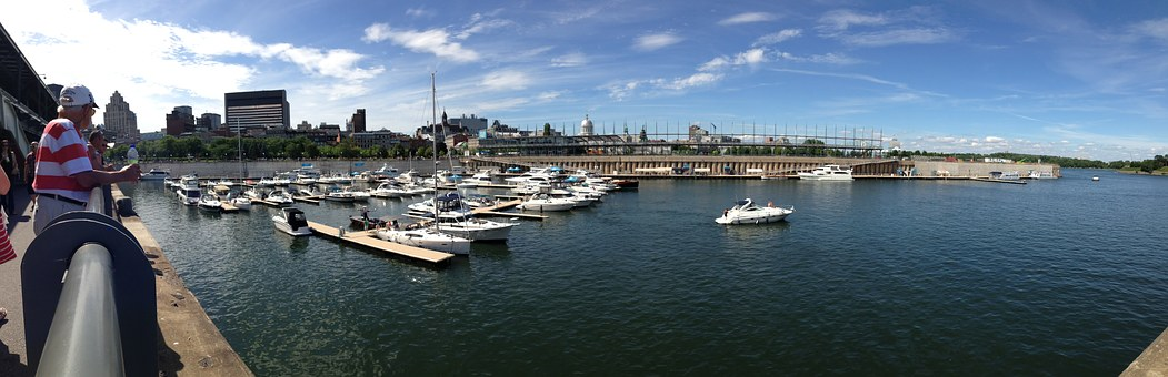 Montreal, Old, Marina, Boats, Water, Quebec, View