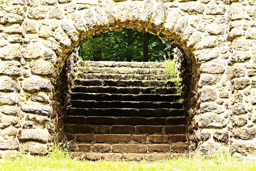 Ruin, Wall, Goal, Rasenerz, Lawn Eisenstein
