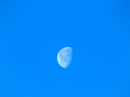 Blue, Sky, Moon, Nature, Weather, Day, Climate, Space