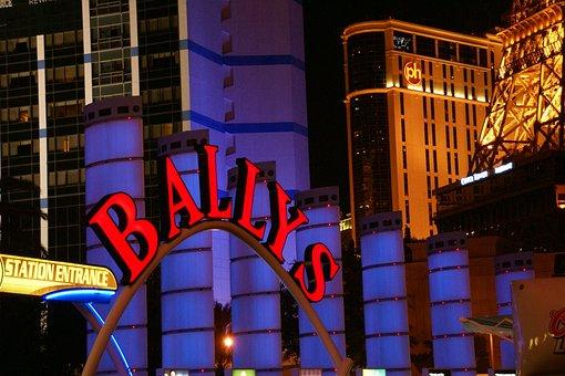 Ballys, Strip, Las Vegas, Nevada, Neon, Signs, Usa