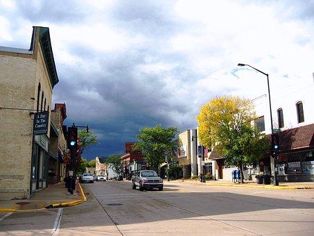 Sun Prairie, Wisconsin, Street, Urban, Downtown