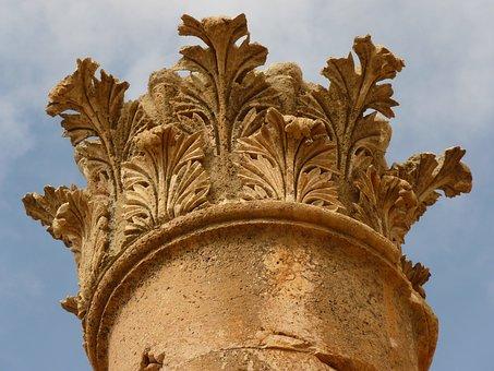 Temple Of Artemis, Gerasa, Jerash, Jordan, Acanthus