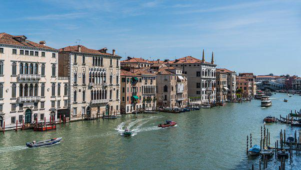 Venice, Italy, Europe, Travel, Grand Canal, Boats Water