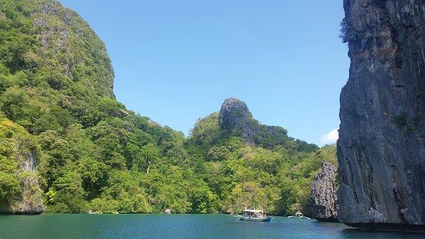 Palawan, Philippines, Tropical, Lagoon, El-nido, Island