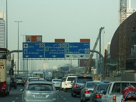 Traffic, Dubai, Uae, U A E, Jam, Traffic Sign, Autos