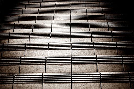 Stairs, Floor, Staircase, Down, Background, Tile