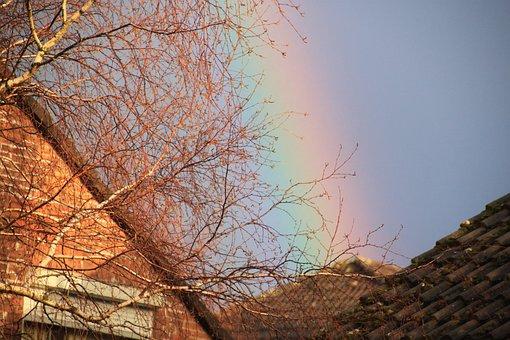 Rainbow, Bright, Contrasts, Spectrum, Weather
