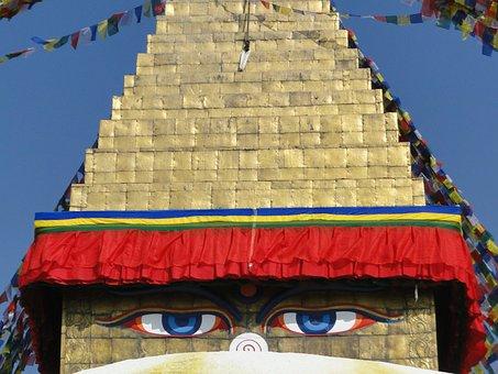 Nepal, Buddha Eyes, Stupa
