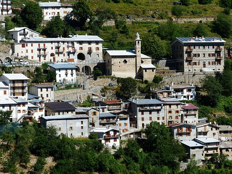 Piaggia, Village, Place, Town, Homes, Building, Italy
