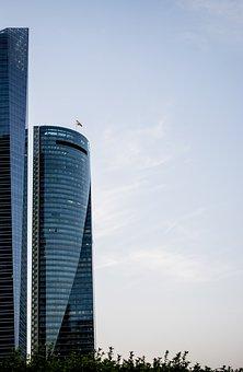 Torres, Madrid, Spain, Buildings, Modern, Sky