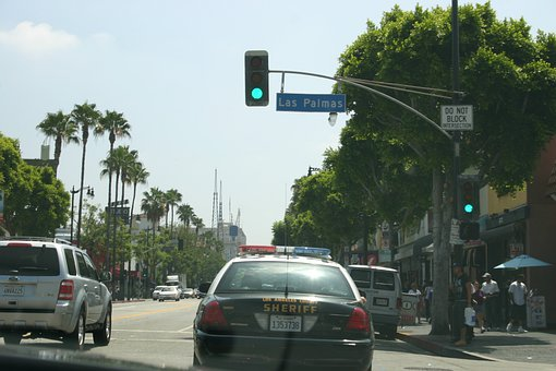 Usa, Los Angeles, Hollywood, California, Road