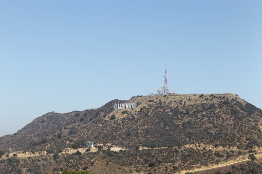 Hollywood, View, Angeles, City, California, Cityscape