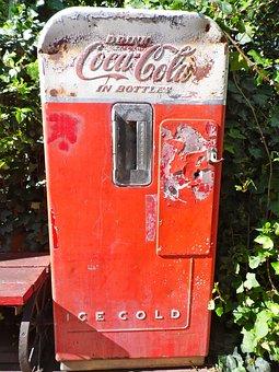 Coke Machine, Coca Cola, Old, Antique, Vending Machines