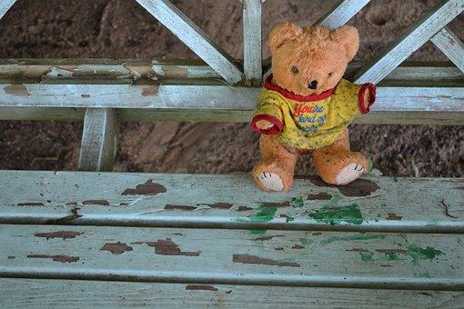 Teddy Bear, Stuffed Animal, Dirty, Plush, Alone, Lonely