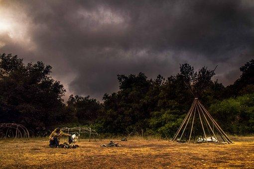 Dramatic, Clouds, Camp, Encampment, Cloudscape, Dark