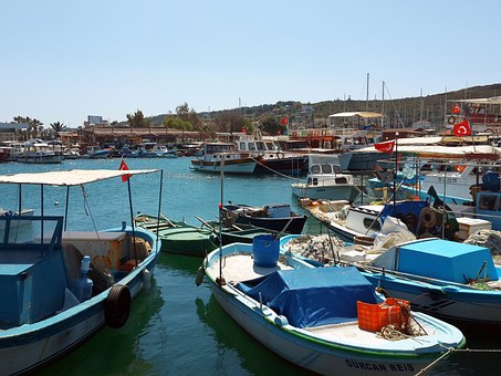 Turkey, Marine, Boat, Fisherman, Marina, Foça, Izmir
