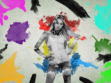 Color Bomb, Blonde, Teenage, Girl