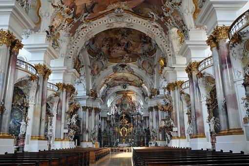 Church, Inside, Interior, Architecture, Benches