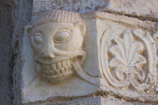 Fash, Face, Ornament, Church, Rhaeto Romanic, Marble