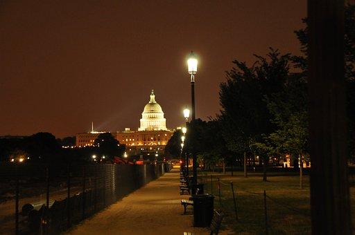 Capitol, Washington, Dc, Monument, Dc At Night