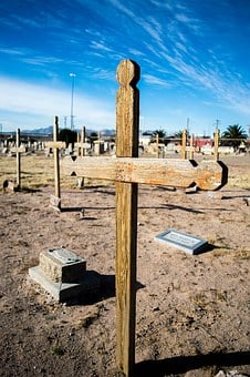 Concordia Cementary, Cross, Grave, Old Cemetery, Texas