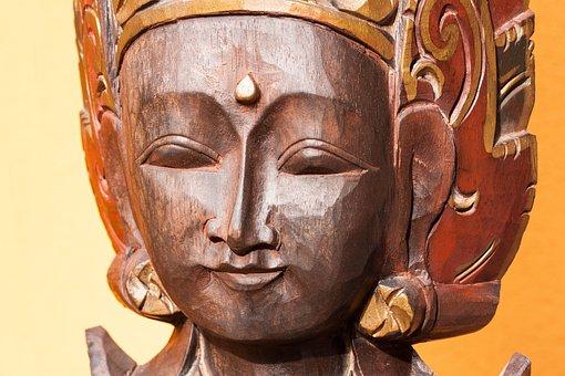 Face, Carving, Ornaments, Temple Guardian, Bali, Wood