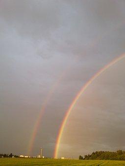 Rainbow, Color, Double Rainbow, Natuschauspiel