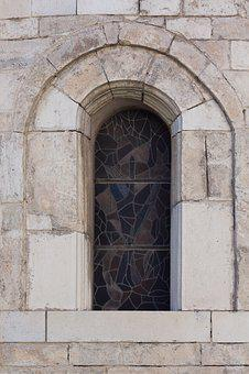Window, Church, Round Arch, Rhaeto Romanic, Marble