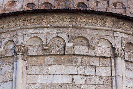 Apse, Church, Ornament, Round Arch, Rhaeto Romanic
