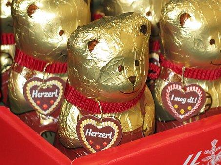 Bear, Sweetness, Chocolate, Sugar, Sweet, Delicious
