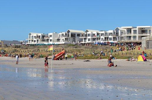 Sea, Ocean, Beach, Swim, Houses On The Beach