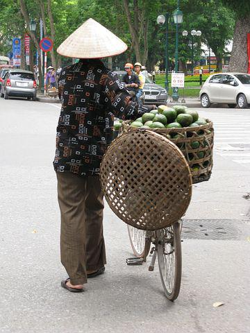 Conical Hat, Coconut, Viet Nam, Bicycle