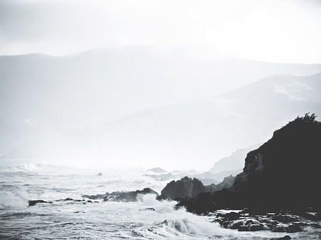 Coast, Rocks, Ocean, Waves, Tide, Froth, Spray, Spume