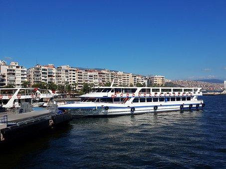 Izmir, Karsiyaka, Marine, Blue, Yacht, Green, Peace