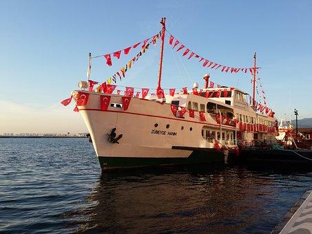 Izmir, Alsancak, Nature, Turkey, Blue, Green, Yacht