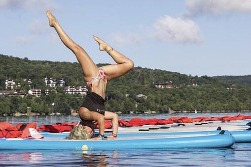 Yoga, Yoga Position, Lake
