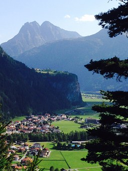 Adlerblick, Length Field, Tyrol, Mountains, Show, City