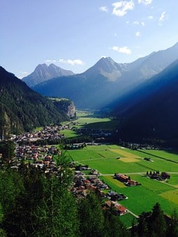 Adlerblick, Length Field, Tyrol, Mountains, Cities