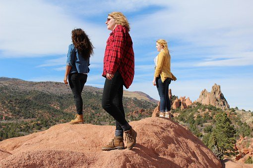 Adventure, Friends, Young, Hipster, Hike, Nature, Band