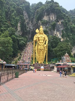 Batu Caves, Buddhist Temple, Indian, Mountains