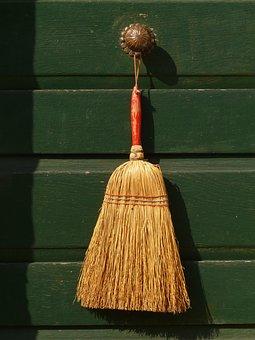 Broom, Return, Live, Front Door, Door, Clean