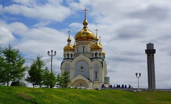 Cathedral, Spaso-preobrazhenskiy, Temple, Khabarovsk