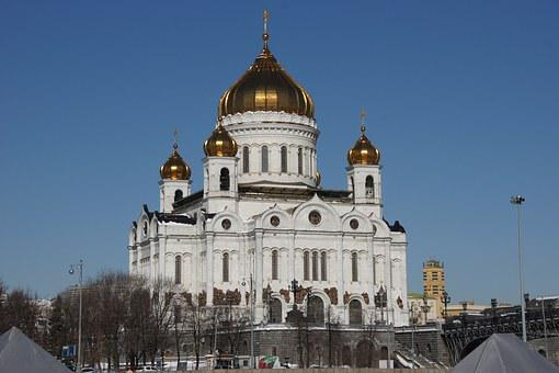 Christ The Savior Cathedral, Moscow, Morning, Religion